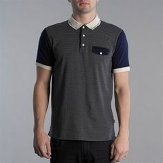 merc stripe polo shirt
