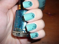 Nail Enamel by Revlon in Radiant with  Nail Lacquer by ULTA in Mint Condition (as base color)