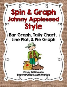 FLASH FREEBIE! DOWNLOAD & SAVE!  Celebrate Johnny Appleseed's birthday (September 26th) in style this year! Simply print, add a paper clip and go!   The spinner for this product is available in both black/white & color.   Students will have the opportunity to collect data using four different methods and answer questions about their graphs.   Students in grades 1, 2, or 3 would enjoy this activity best.  This product can be easily used in math stations, tubs, or centers.  This set is part of...