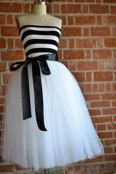 Black & White Strapless Dress on Etsy from ouma $188.00         HOLY CUTENESS!!!! <3