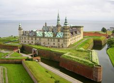 Kronborg Castle, Helsingor - UNESCO World Heritage Site. Immortalized as Elsinore in William Shakespeare's play Hamlet, Kronborg is one of the most important Renaissance castles in Northern Europe. Hotel Berlin, Helsingor, Denmark Travel, Famous Castles, Odense, Beautiful Castles, Copenhagen Denmark, Copenhagen Travel, Jolie Photo