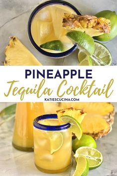 Sip on summer in a cup with this easy 6-ingredient Pineapple Tequila Cocktail made in under 10 minutes time. This recipe has fresh ingredients and yields enough to make a full pitcher, perfect for entertaining. #drink #pineappledrink #tequila #pineappletequila Pineapple Slicer, Pineapple Syrup, Cut Pineapple, Pineapple Drinks, Non Alcoholic Drinks, Cocktails, One Pot Meals, Easy Meals, New Fruit