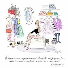 Fashion Girl  #Shoes #ShoesPassion / Ragazza alla moda #Scarpe #PassioneScarpe - Art by Magalie Foutrier