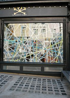 Could do this with yarn for a simple window display in the classroom area.