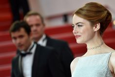 Emma Stone elegant updo from 68th Cannes Film Festival