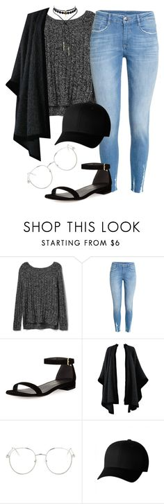 """""""Sweater weather 🖤"""" by kybeauty1 ❤ liked on Polyvore featuring Gap, H&M, Stuart Weitzman, Yves Saint Laurent, Topshop and Flexfit"""
