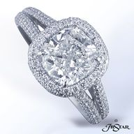 Cushion Cut #Engagement #Ring from Alson Jewelers  www.finditforweddings.com