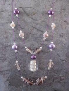 Homemade floating necklace / ladies door JHFWBeadsAndFindings