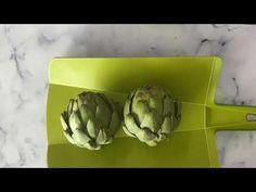 Easy Way To Peel a Artichoke + Clean its Heart طريقة تقشير الأرضي شوكي - YouTube