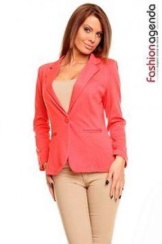 Coral, Blazer, Jackets, Women, Fashion, Down Jackets, Moda, Women's, Fashion Styles