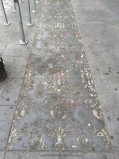 Decorative Sidewalk Panels in Mission