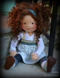 Freya-handmade natural fiber doll by Mon Petit Frère