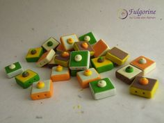 Retro tile beads by Cate van Alphen #2015PCchallenge
