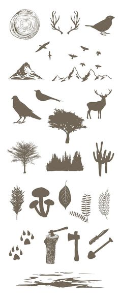 Free Forest Vector Elements   Ai, Eps & Pdf Files (8.31 MB)   http://graphicsfuel.com   #free #vector