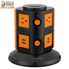 One per work stationFlexible power for tools, chromebooks/laptops, iPads, etc for work stations/shop tables.   Bestten Smart Power Strip Tower - 4-Port USB Charger - 6-Outlet Power Strip - Surge Protector w/Overload Protection - Home or Office - 6' Cord