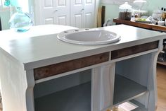 How to convert a buffet into a bathroom vanity