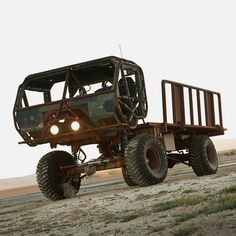 Mongo Train Heist Truck, built specifically to steal exotic cars off a speeding train.