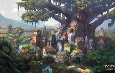 Qrath Empire (cityscape fantasy concept art) by DamianKrzywonos on DeviantArt Fantasy Village, Fantasy City, Fantasy Castle, Fantasy Places, High Fantasy, Fantasy World, Fantasy Art Landscapes, Fantasy Landscape, Landscape Art