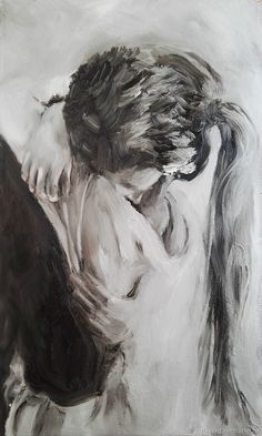 Tenderness, oil painting on canvas, love, two, in love - buy in online store at the Fair of the Masters with delivery - Art Sketches, Art Drawings, Romance Art, Art Of Love, Couple Art, Portrait Art, Erotic Art, Amazing Art, Photo Art