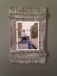 Rustic Soul Designs Planked Wood Picture Frame 8x10 Whitewashed Farmhouse Style
