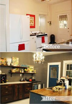 reader's spaces : kitchen before + after!