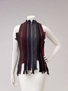 Vest | Martin Margiela | Belgium, Autumn/Winter 2001 | Polyester and nylon metal zippers | Indianapolis Museum of Art