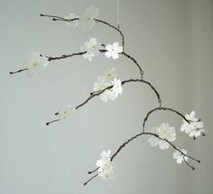 White Cherry Blossom Mobile
