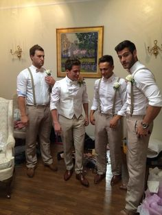 The undeniably handsome Chad, Caleb, Joey, and Alan at Caleb's wedding!!