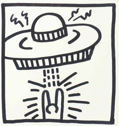Keith Haring (1958-1990) | Untitled (Man with UFO) | 20th Century, Drawings & Watercolors | Christie's