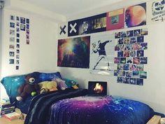 Galaxia En Habitación♥ · Hipster BedroomsGrunge BedroomHipster Bedroom  DecorIndie BedroomGalaxy ...