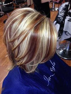 Image result for inverted bob with highlights and lowlights
