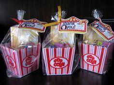 Cute Popcorn Party favors.