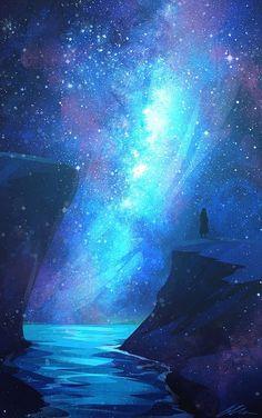 Expanding Onwards Art Print by zandraart – Galaxy Art Anime Galaxy, Galaxy Art, Galaxy Wallpaper, Wallpaper Backgrounds, Wallpaper Art, Trendy Wallpaper, Scenery Wallpaper, Fantasy Landscape, Landscape Art