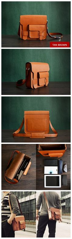 Custom Handmade Itanlian Vegetable Tanned Leather Satchel, Messenger Bag, Shoulder Bag, Men Bag
