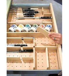 Hafele Kitchenware & Plate Organizer for Deep and Shallow Drawers