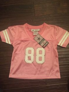 Little Girls Dallas Cowboys SS Mesh Jersey Bryant 88 Pnk Sparkle Glitter 3T | eBay