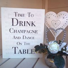 Gorgeous time to drink champagne picture block online now great for wedding decor or why not place on your dining room wall.