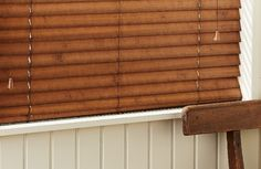 natural reclaimed wood venetian blinds - Google Search