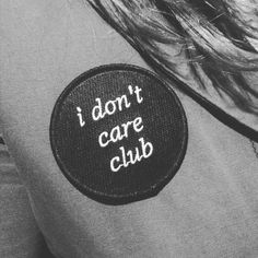 I Don't Care Club by shopshimsham on Etsy (null)