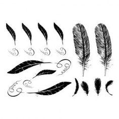 Chic Various Feather Pattern Tattoo Sticker For Women @damselwhtelabel
