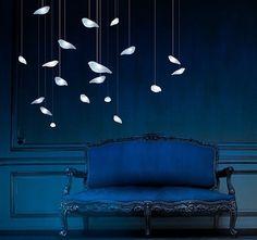 bird lights - love the deep blue