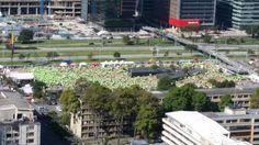 Desde el aire estuvimos pendientes de la #Seguridad de todos los participantes de #CarreraPorLaPolicía10K