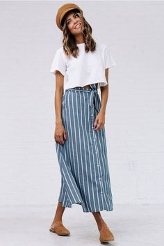 Shorewalk Midi Skirt