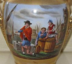 Early 19th Century French Porcelain Part Urn - Vieux Old Pari