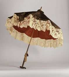 Figured silk parasol, circa1880. Courtesy of LACMA Collections Online.
