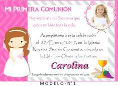 e204dfbf4 Invitaciones Primera Comunion Tarjeta De Invitacion Personalizada Comunian Cargando  Zoom Para Editar E Imprimir Gratis Imprimir