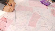 DIY Anleitung: Schnittmuster auf Papier kopieren // diy: how to copy sewing pattern via DaWanda.com