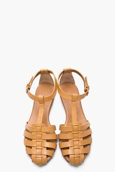 VERONIQUE BRANQUINHO Beige Fisherman Sandals