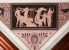 Fragment of a fresco ceiling decoration in the Etruscan Room in the Temple of Diana in Nieborów-Arkadia by Michał Płoński and Aleksander Orłowski, the temple was constructed in 1783 by Szymon Bogumił Zug for Helena Radziwiłłowa