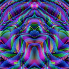 Volcano Fractal by Frank Bonilla Art Fractal, Fractal Images, Fractal Design, World Of Color, Color Of Life, Rainbow Colors, Vibrant Colors, Neon Rainbow, Psy Art